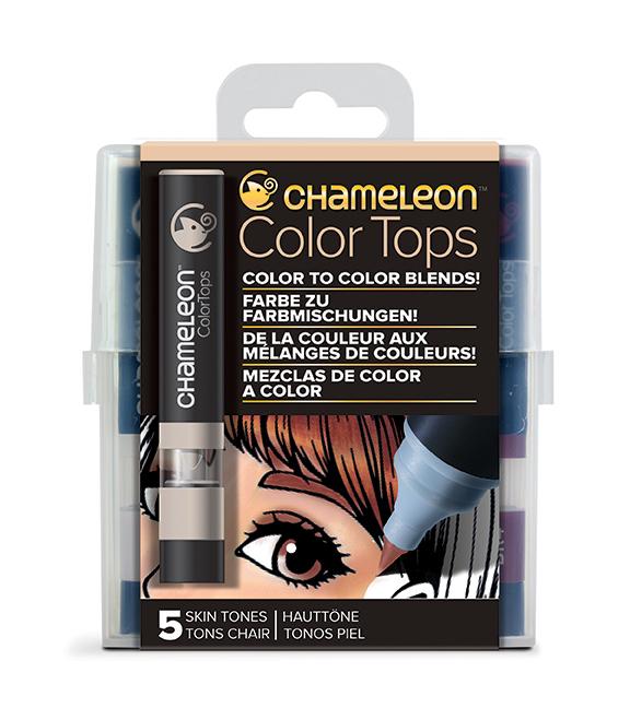 Chameleon Pen 5 Color Tops Skin Set (カメレオンペン 5本入りカラートップ スキンセット)