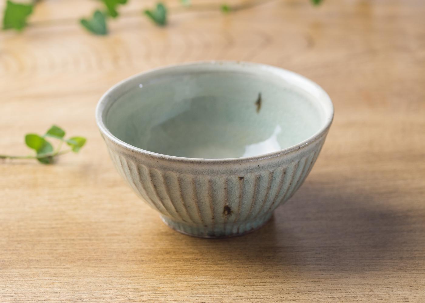 灰釉 粉引 鎬 飯碗(小)2/くるり窯