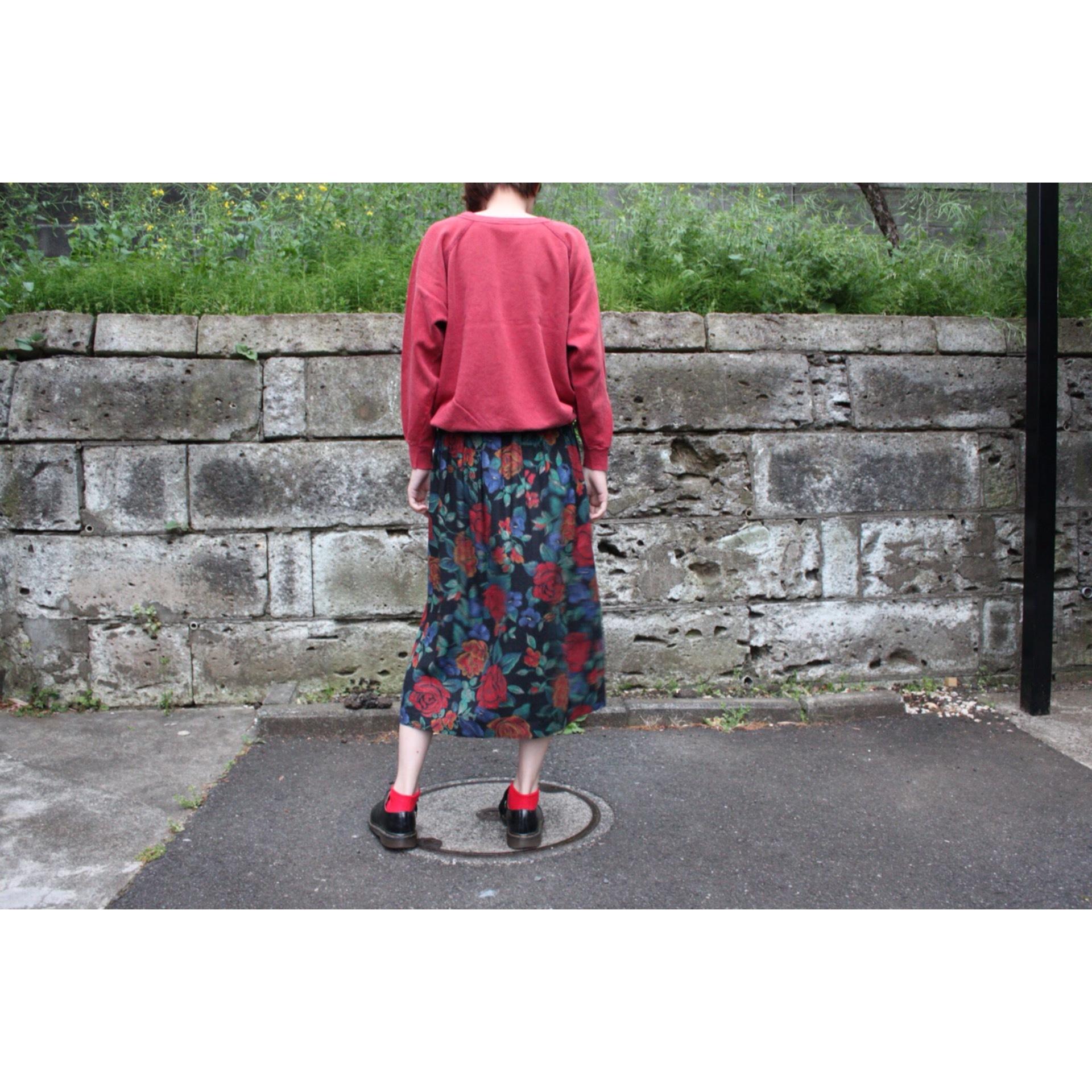 Vintage flower pattern skirt