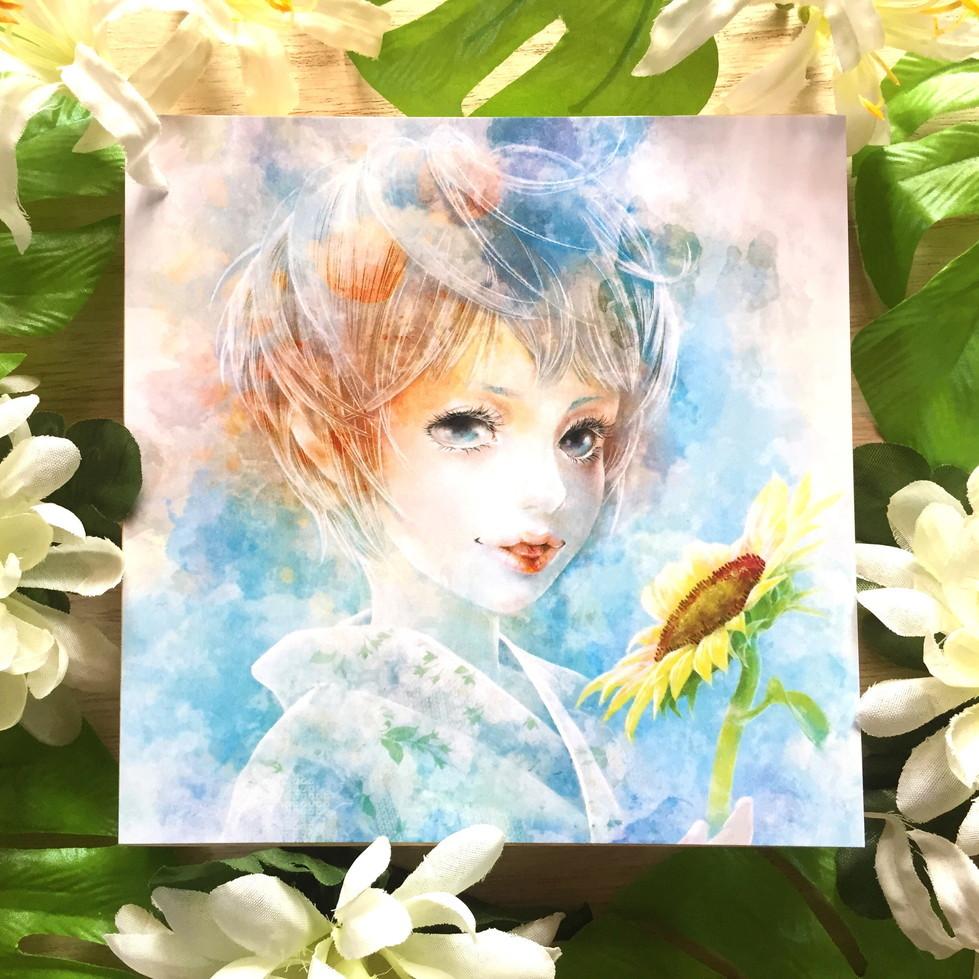 絵画 インテリア アートパネル 雑貨 壁掛け 置物 おしゃれ イラストレーター 水 泡 ロココロ 画家 : 黄色いもみじ 作品 : notitle
