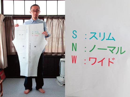 現代風もんぺの型紙