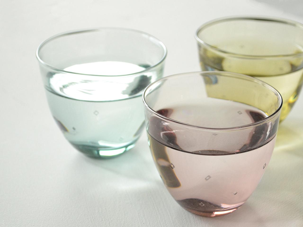 [NEW]白神ガラス工房 こぎん硝子 ゆらめきこぎんグラス