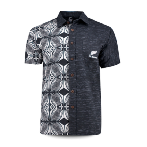 All BLACKS 2019 Aloha shirt Maori Black