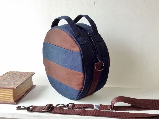 【受注製作】DOTLINE BAG | NAVY×BROWN