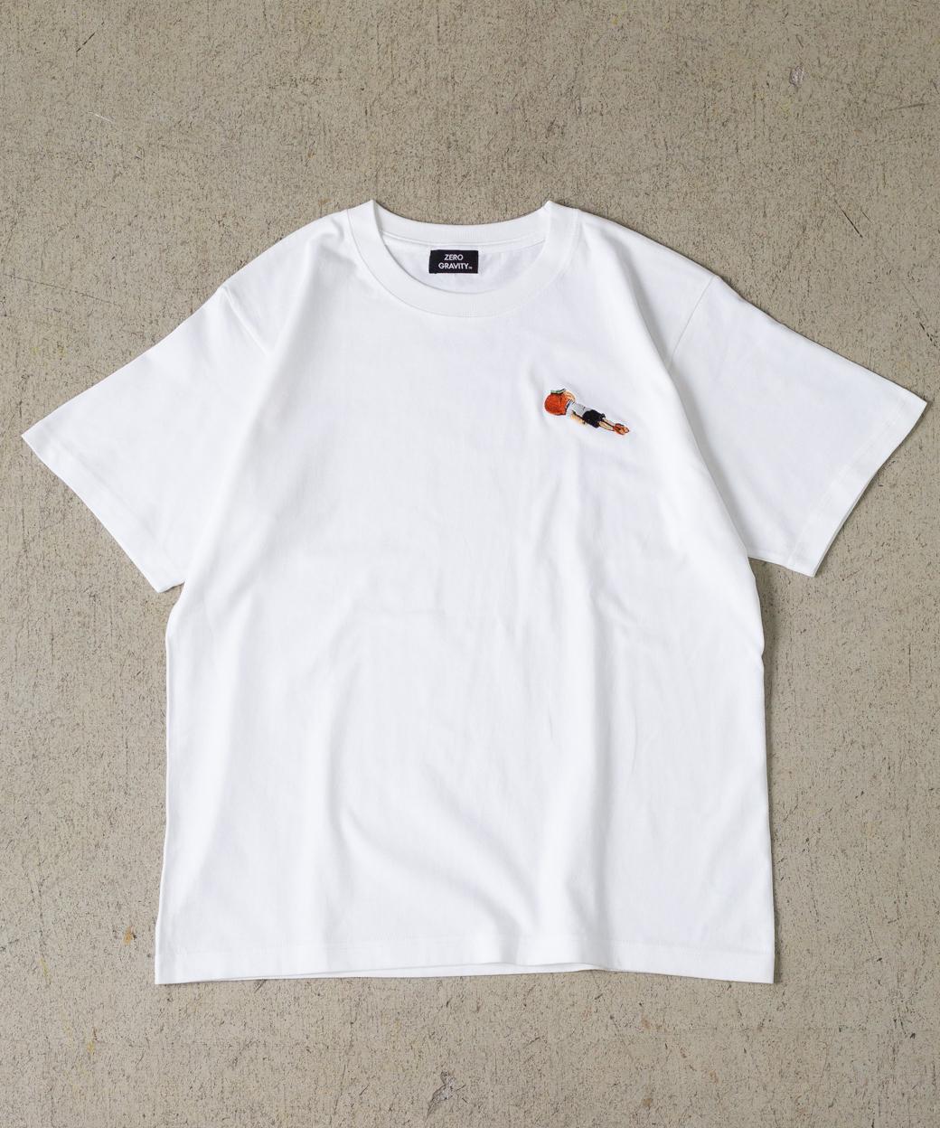 「みかん頭」 刺繍T-SHIRT RIKU