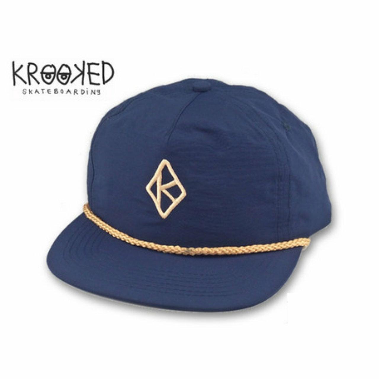 【KROOKED】 マークゴンザレス トミーゲレロ キャップ DIAMOND K 〈Navy〉