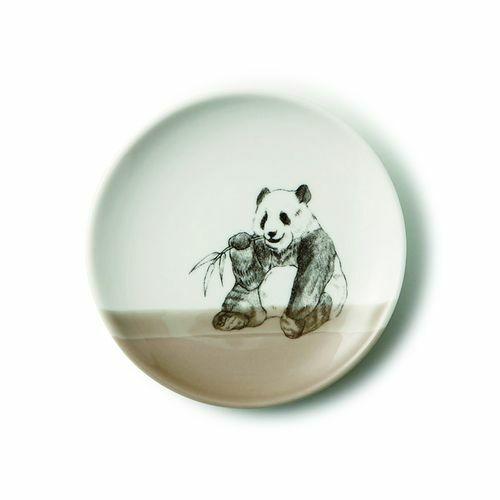 美濃焼 Zoo of matsuda 松田動物園【日本製】13cmプレート【パンダ】