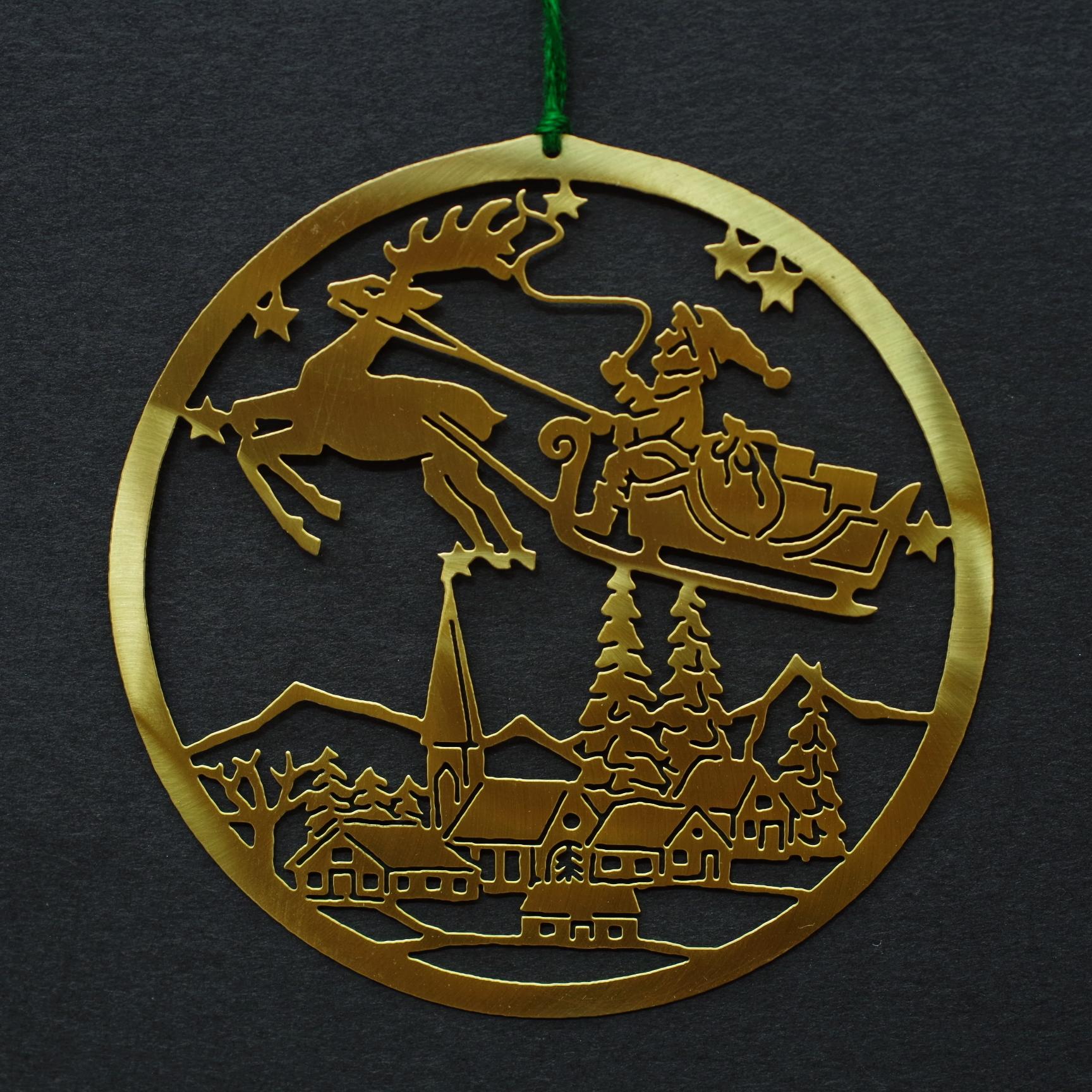 ゴールドオーナメント サンタクロース