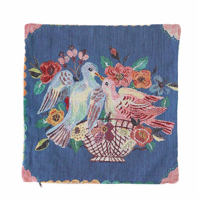Nathalie Lete Cushion cover -Two birds- ナタリーレテ クッションカバー