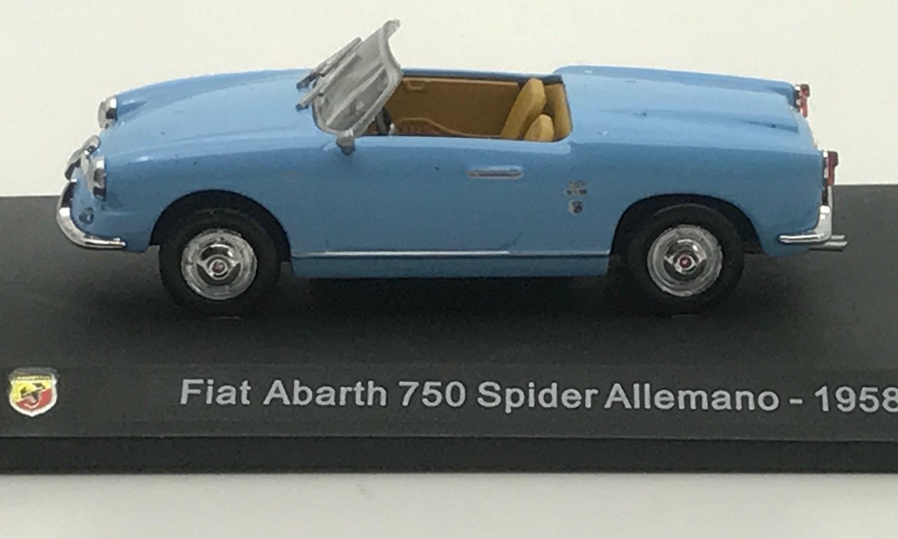 Fiat Abarth 750 Spider Allemano 1958 (1/43)