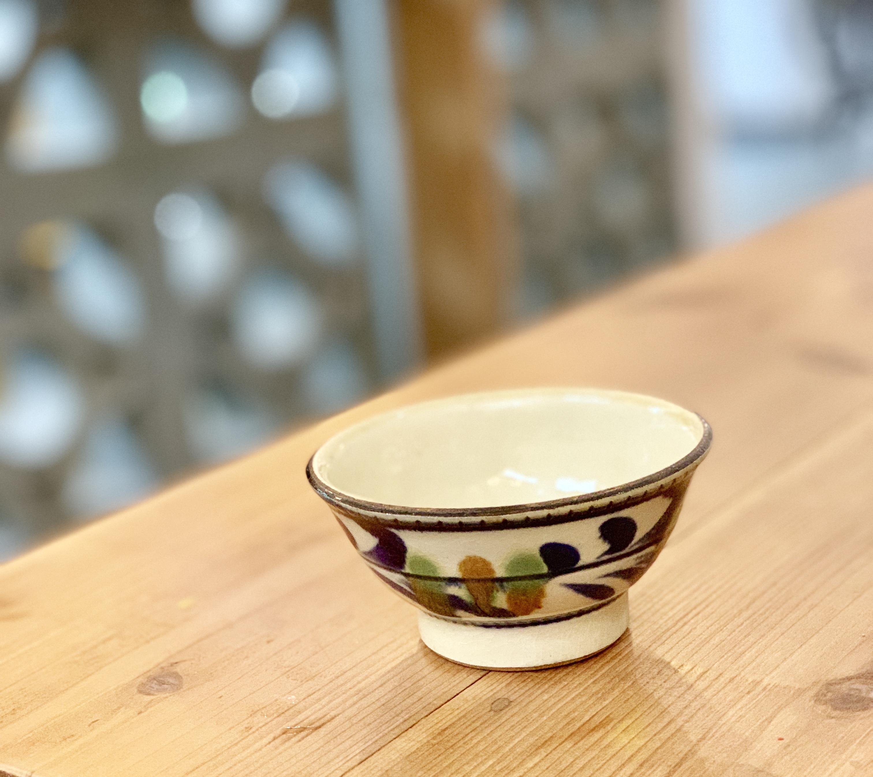 マカイ 4寸 福田陶器 (瑠璃唐草)