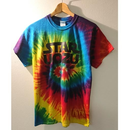 STAR UOZU Tシャツ タイダイ×ブラック