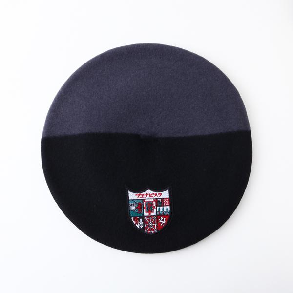 ワッペン付きバスク帽 BLK/GRY(サイズ12 / 13.5) TDB-W-07