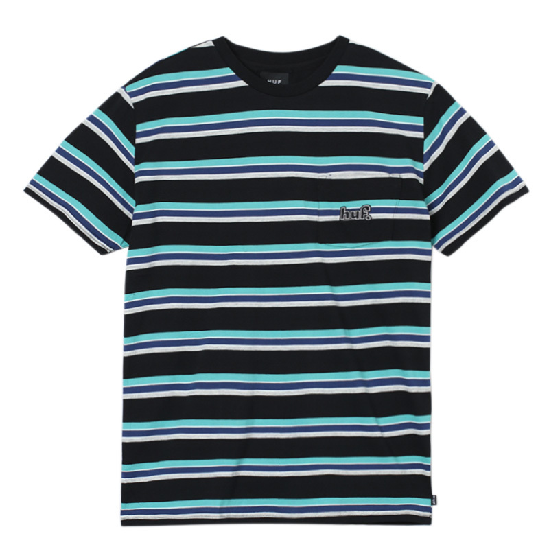 HUF 1993 STRIPE S/S KNIT BLACK