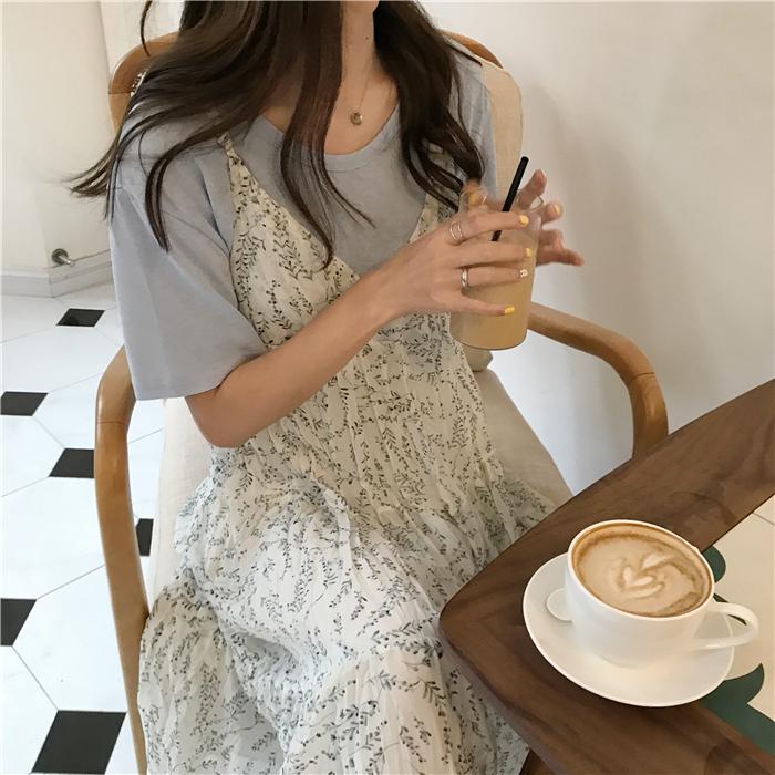 【送料無料】花柄 ドレススカート B19040701