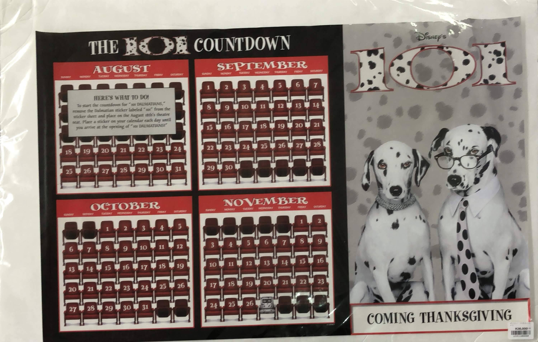 品番0068 ポスター 『THE 101 COUNTDOWN』 101匹わんちゃん カレンダー ディズニー アート 011