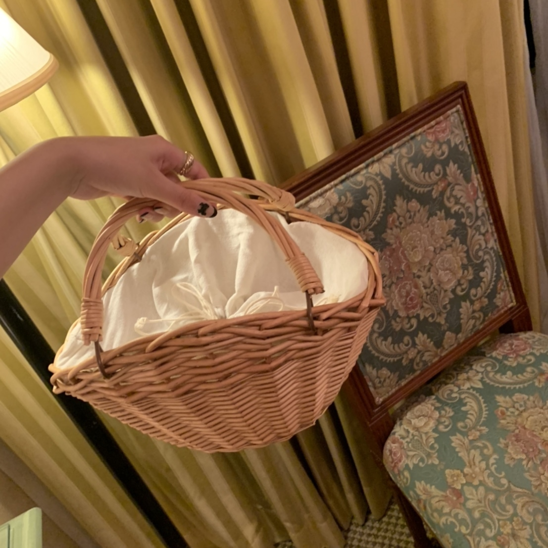 2/12 RESTOCK picnic rattan bag