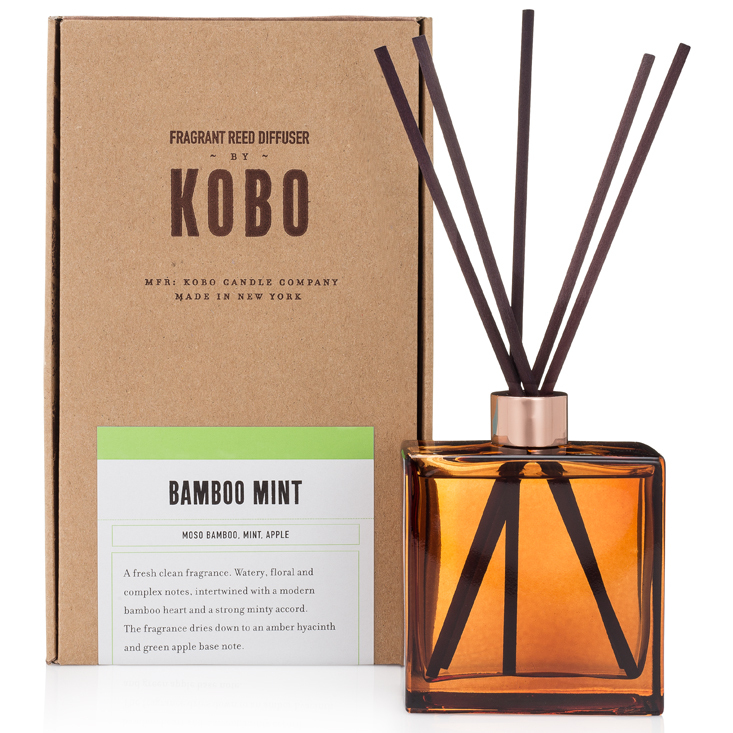 BAMBOO MINT - WOODBLOCK REED DIFFUSERS