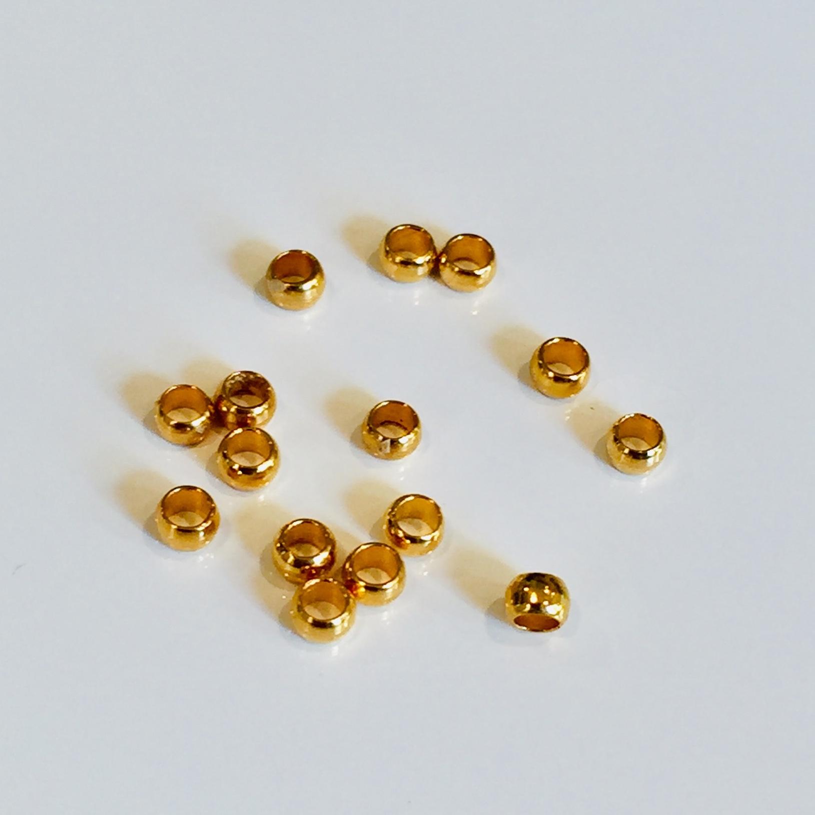 ゴールドビーズ 2mm 15個セット