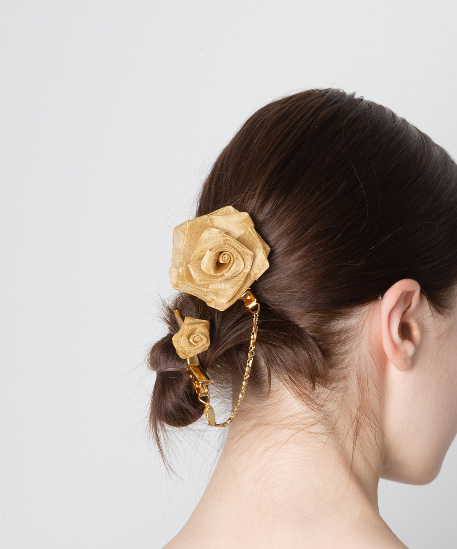 Joe19AW-16 flower chain swing clip (gold)