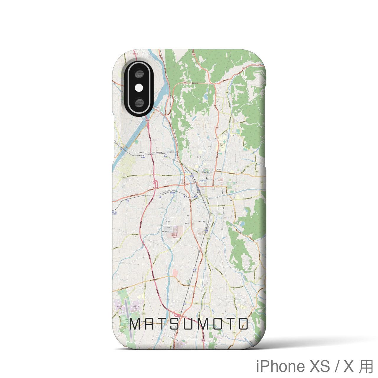 【松本】地図柄iPhoneケース(バックカバータイプ・ナチュラル)