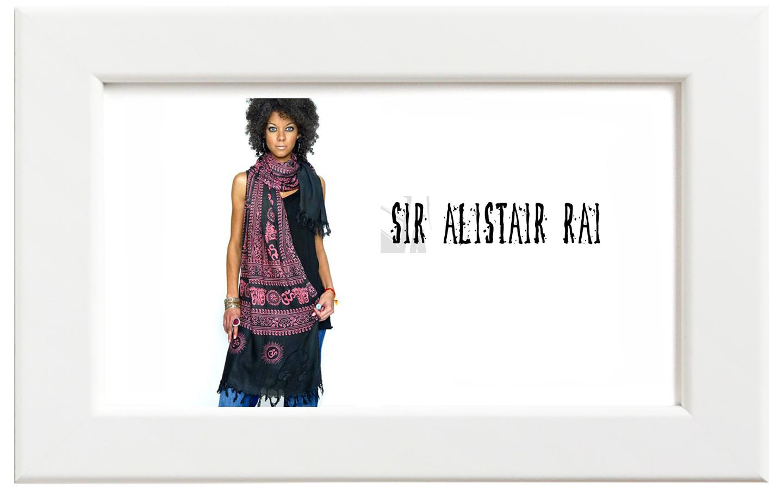 Sir Alistair Rai/サー・アリステア・レイ Summer Love Wrap スカーフ/ブラック