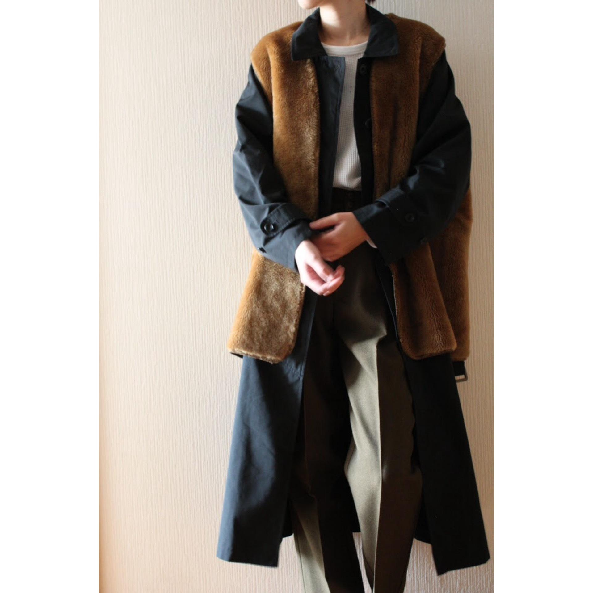 Vintage fake fur liner vest by Barbour
