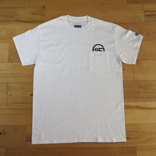 Hi FIVE poket Tee ポケット Tシャツ ホワイト