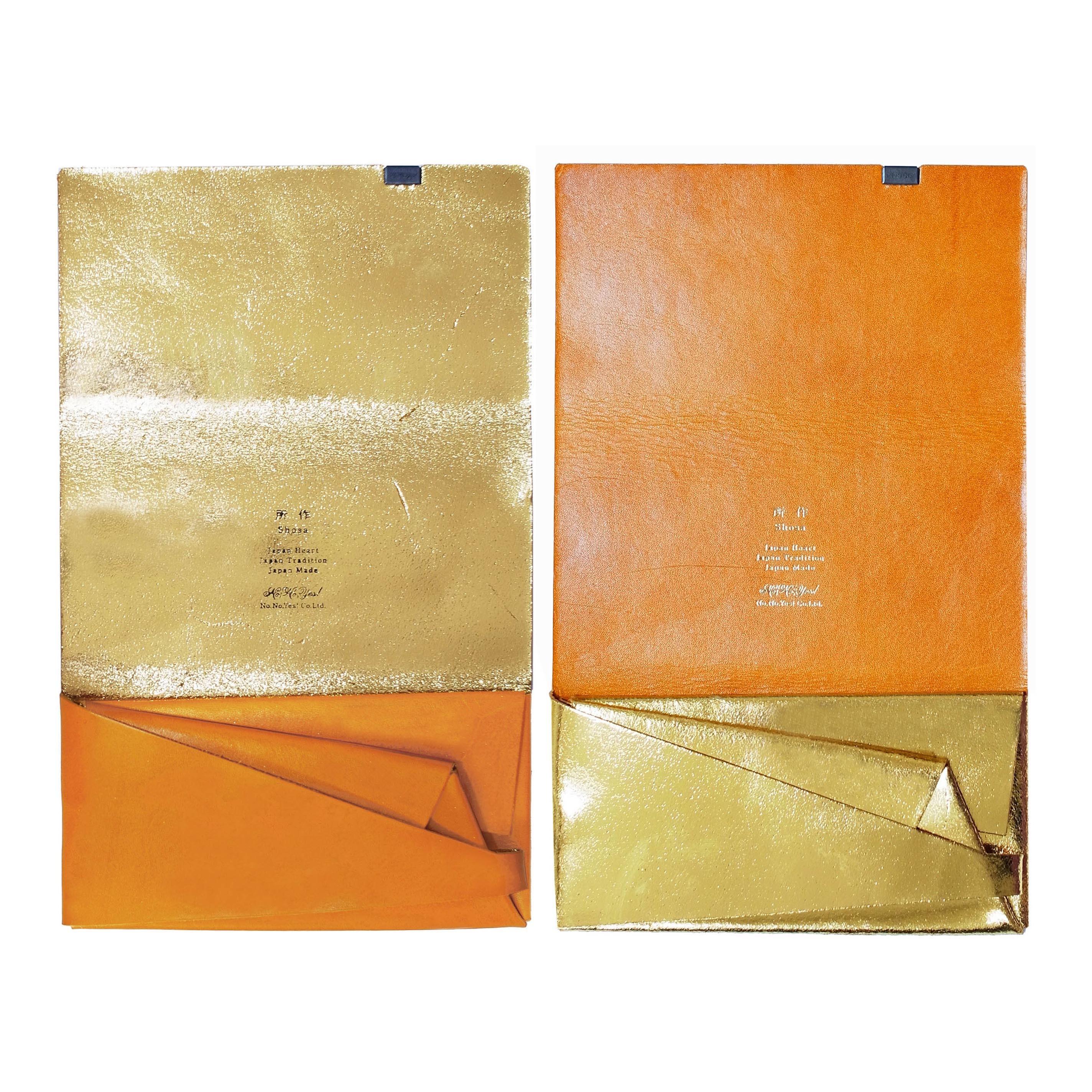 ボレロ -ロングウォレット- キャメル×ゴールド&ゴールド×キャメル