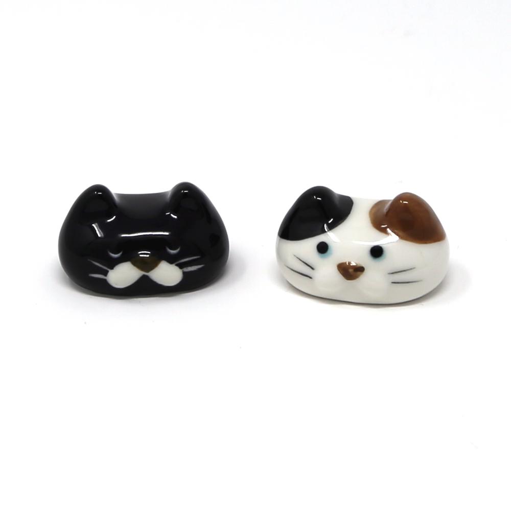 猫箸置き(ぽってりおかお箸置き)全2種類