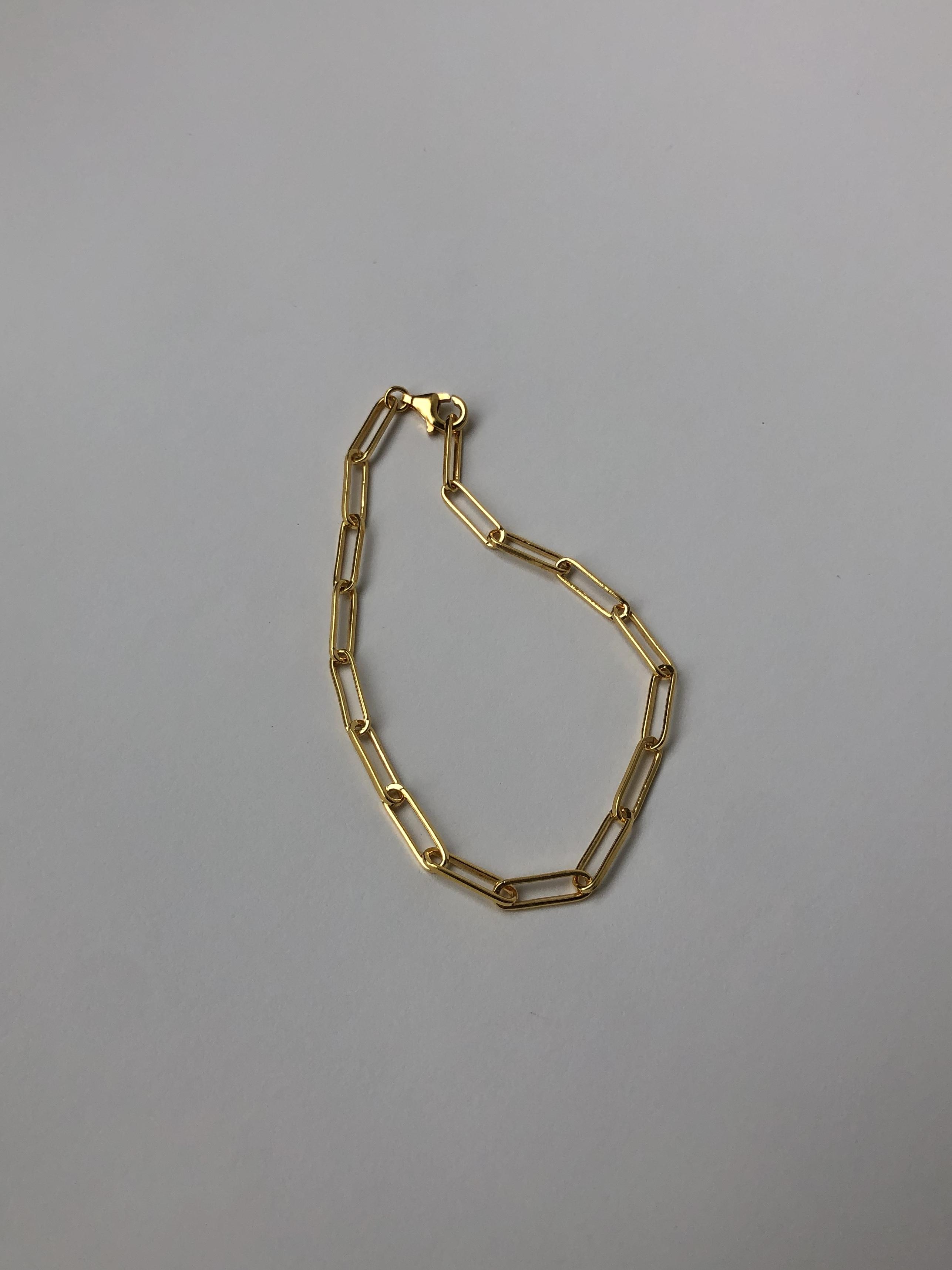 adjustable square chain bracelet gold(再入荷)