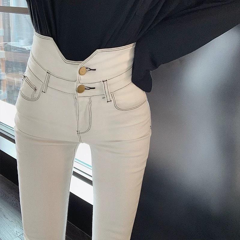 high waist two button pants