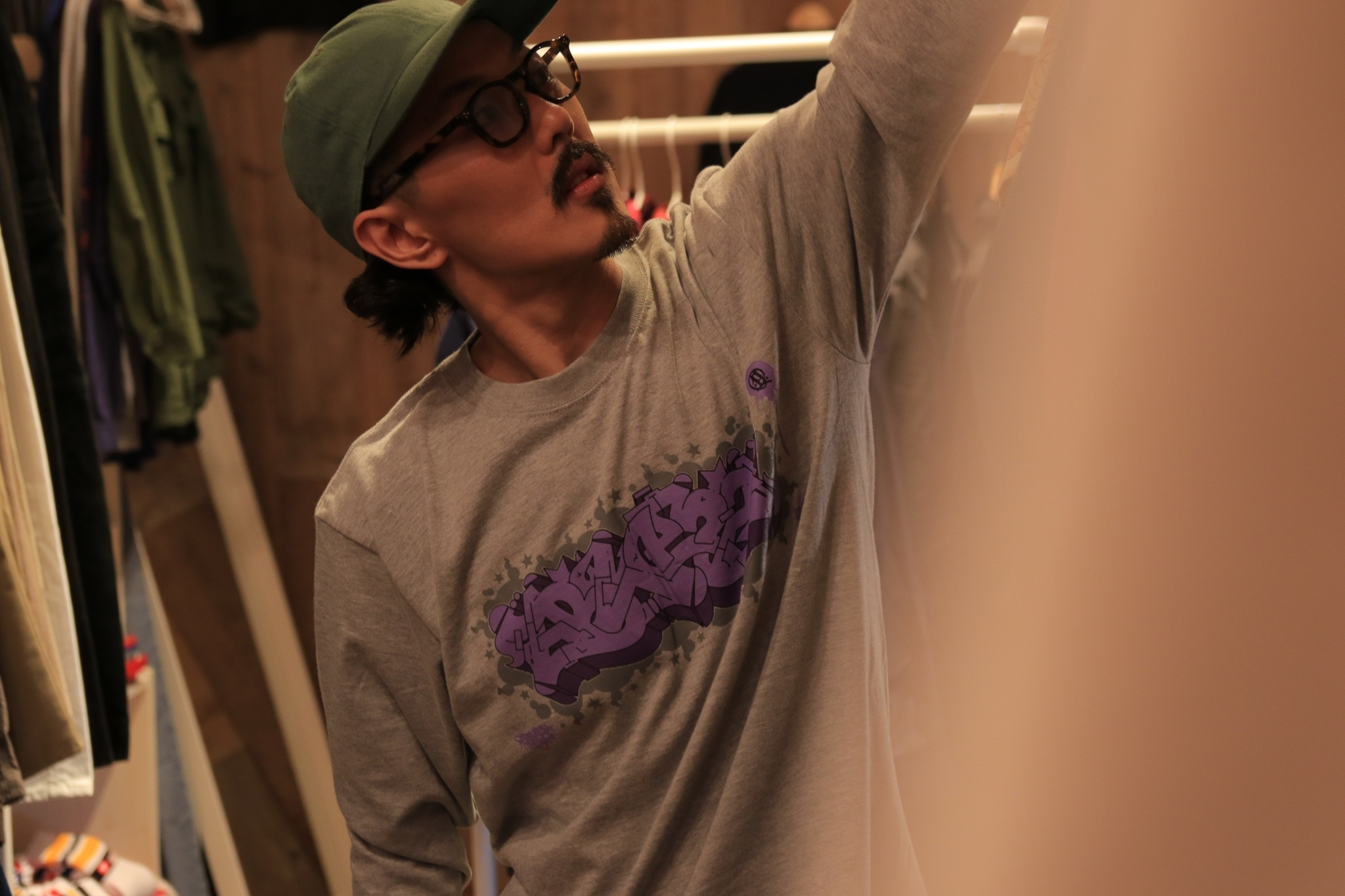 ITALY BLAZZ by Kreso World Wide COLLAB 00 L/S TEE [ASH GRAY]