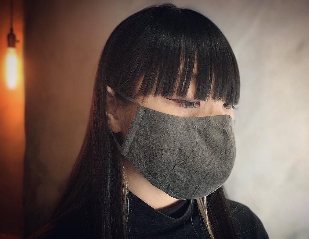 墨染めの布マスク