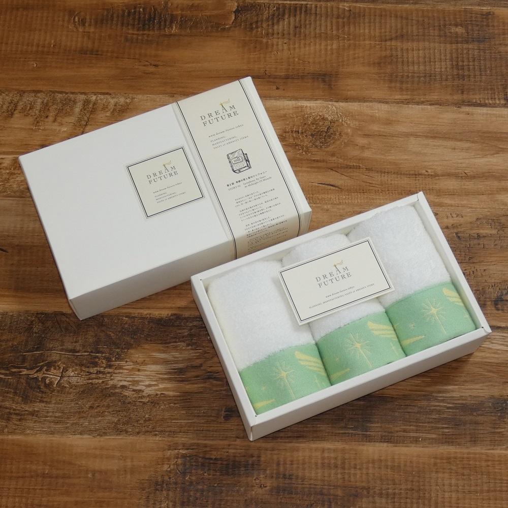 無撚糸高級ハンドタオル3枚SET GREEN / GREEN / GREEN