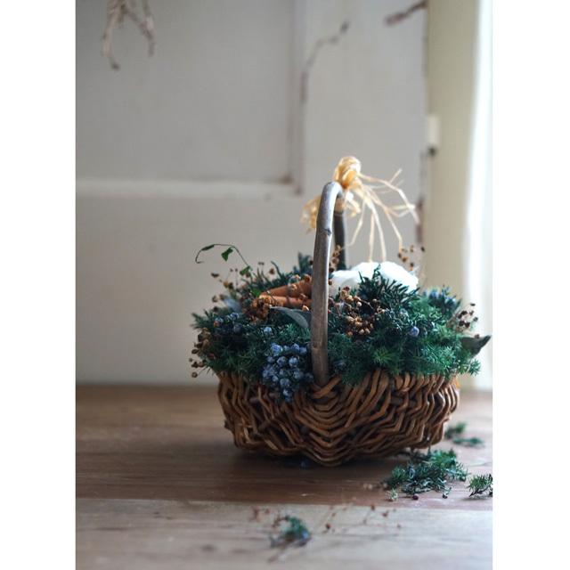 【バスケットアレンジ】 クリスマスバスケット