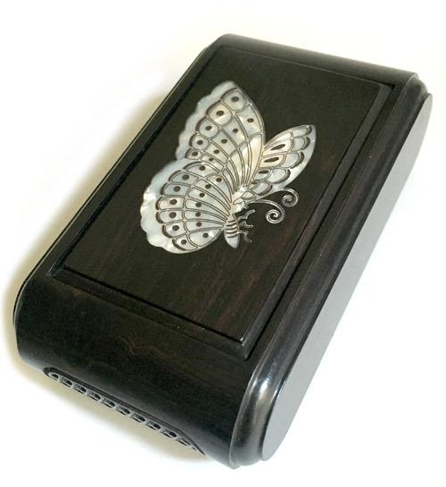 林社製 螺鈿(蝶) 黒檀 標準サイズ