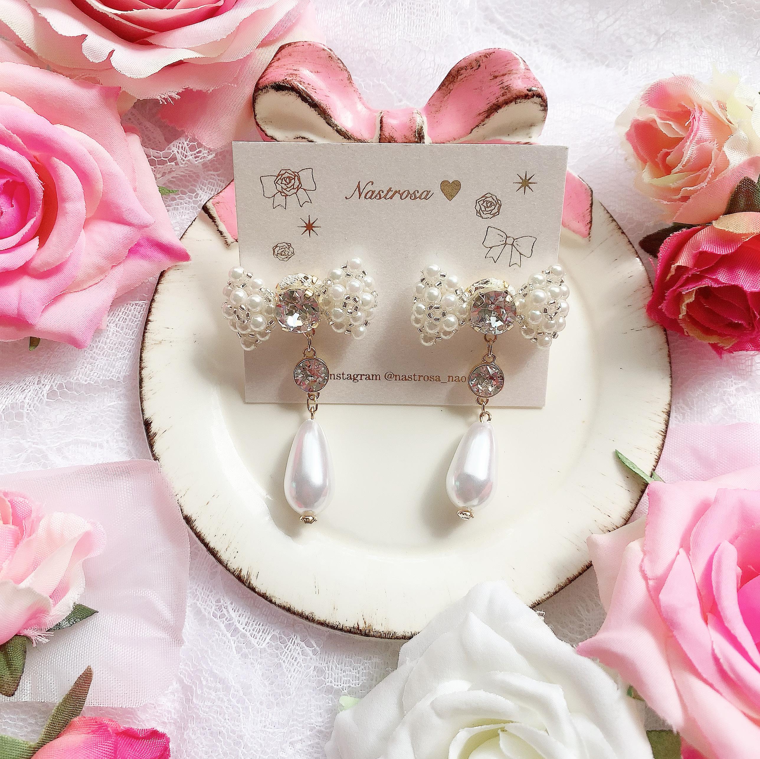【9/20(日)21時より再販】plump ribbon♡twinkle pearl