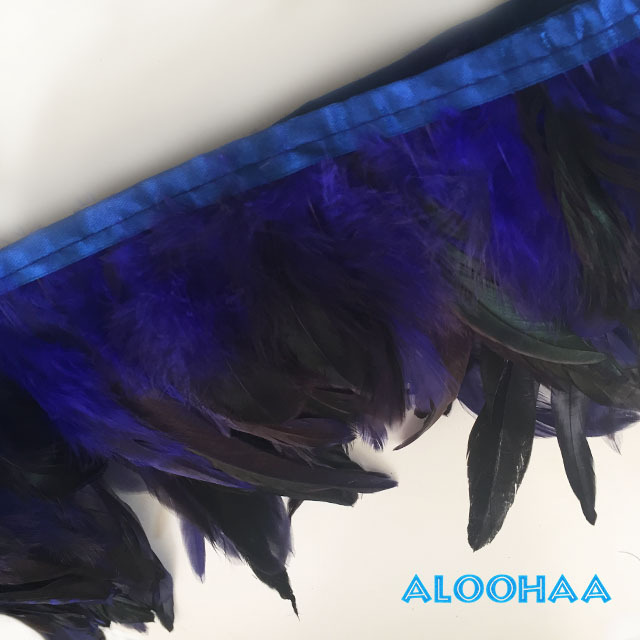 フェザーロール 【青】 14~19cm丈 1m DIY 羽 タヒチアン 衣装材料 タヒチアン ポリネシアンフェザー