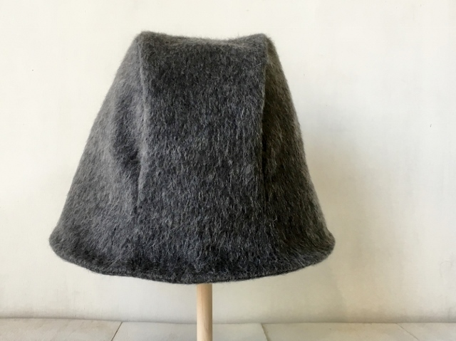 HELMA HAT | SHAGGY WOOL GRAY