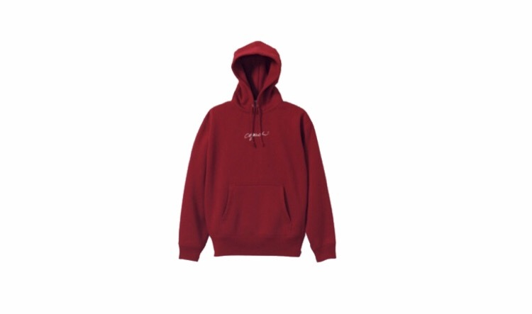 coguchi logo hoodie (bur/wh)