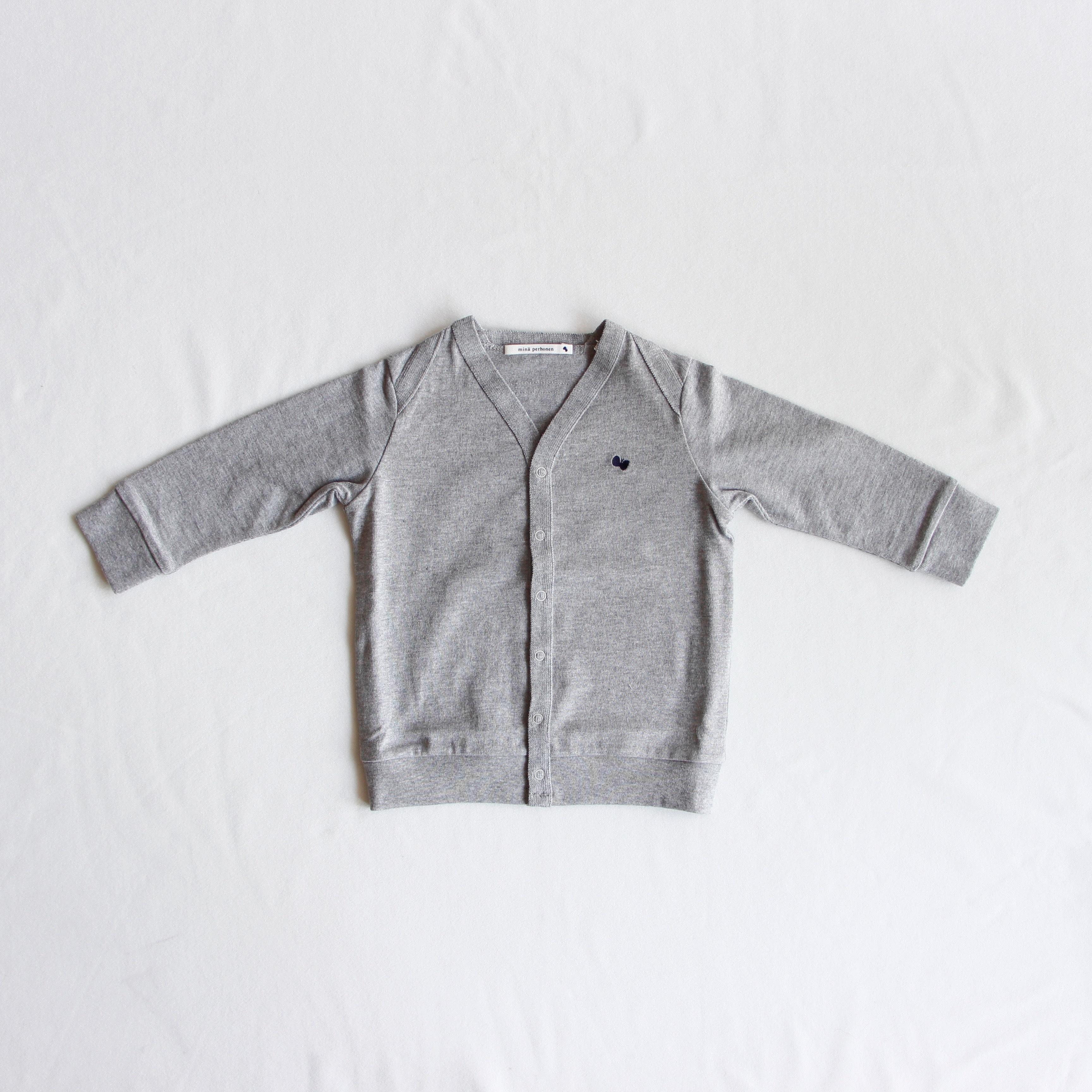 《mina perhonen》zutto カーディガン / gray / 110-130cm