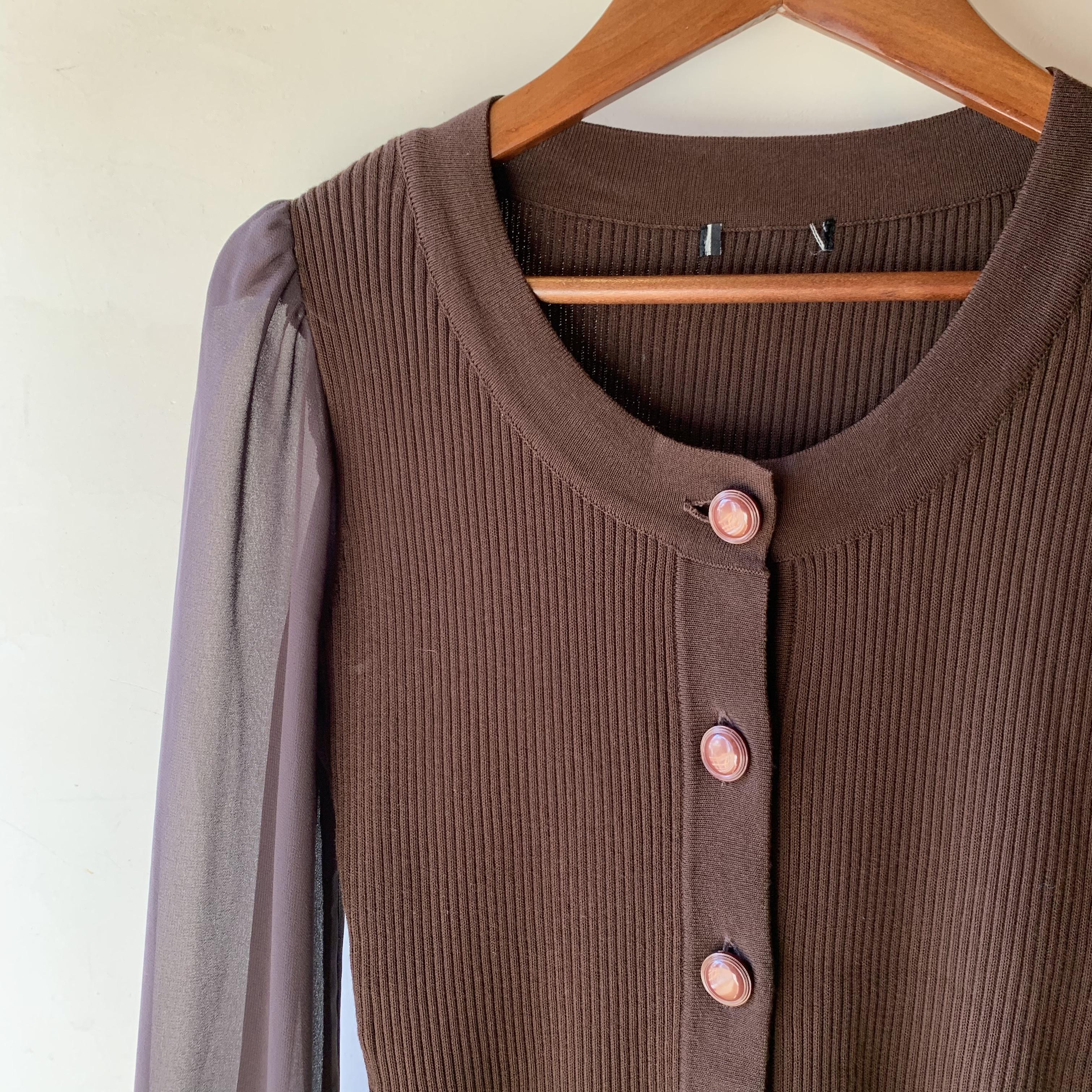 vintage see-through sleeve tops