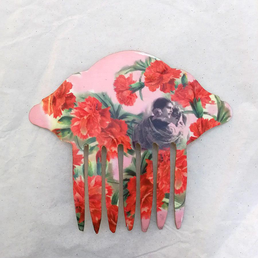 FE-Pn-A_VintageRose ペイネタA アンティーク絵画柄・ピンク系  スペイン製