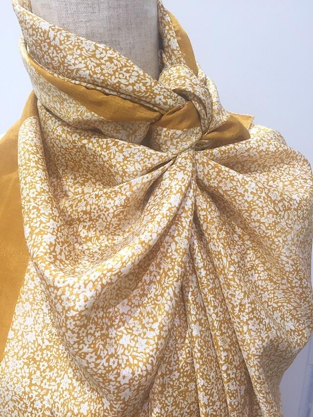 saris-061【新価格】 シルクサリー スクエアショール