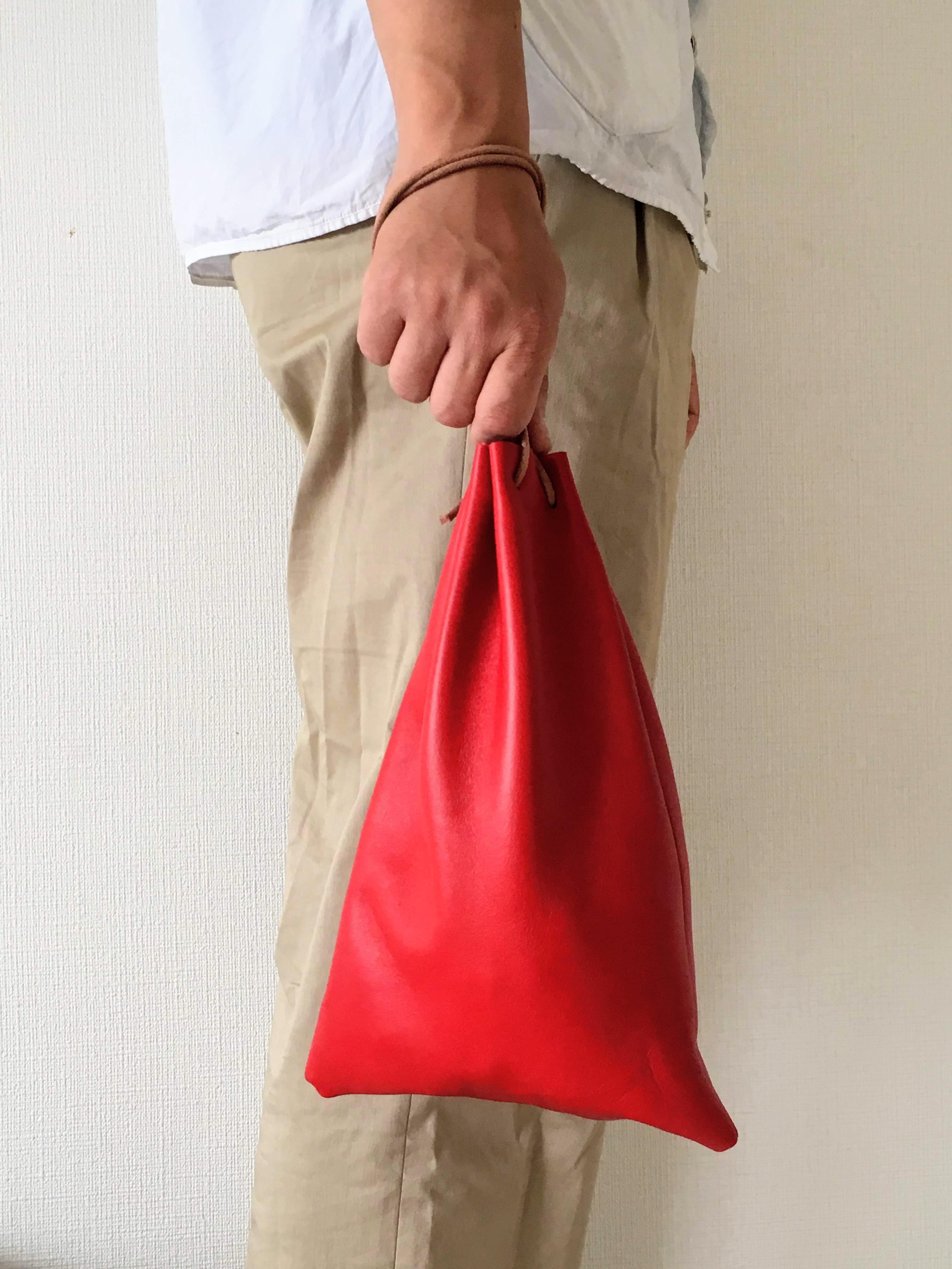 Utility Bag レザー巾着 - 画像1