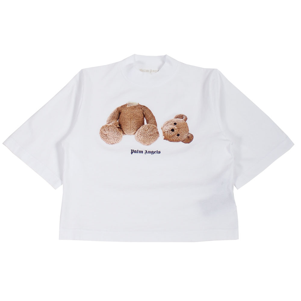 PALM ANGELS Bear Cropped Tee White