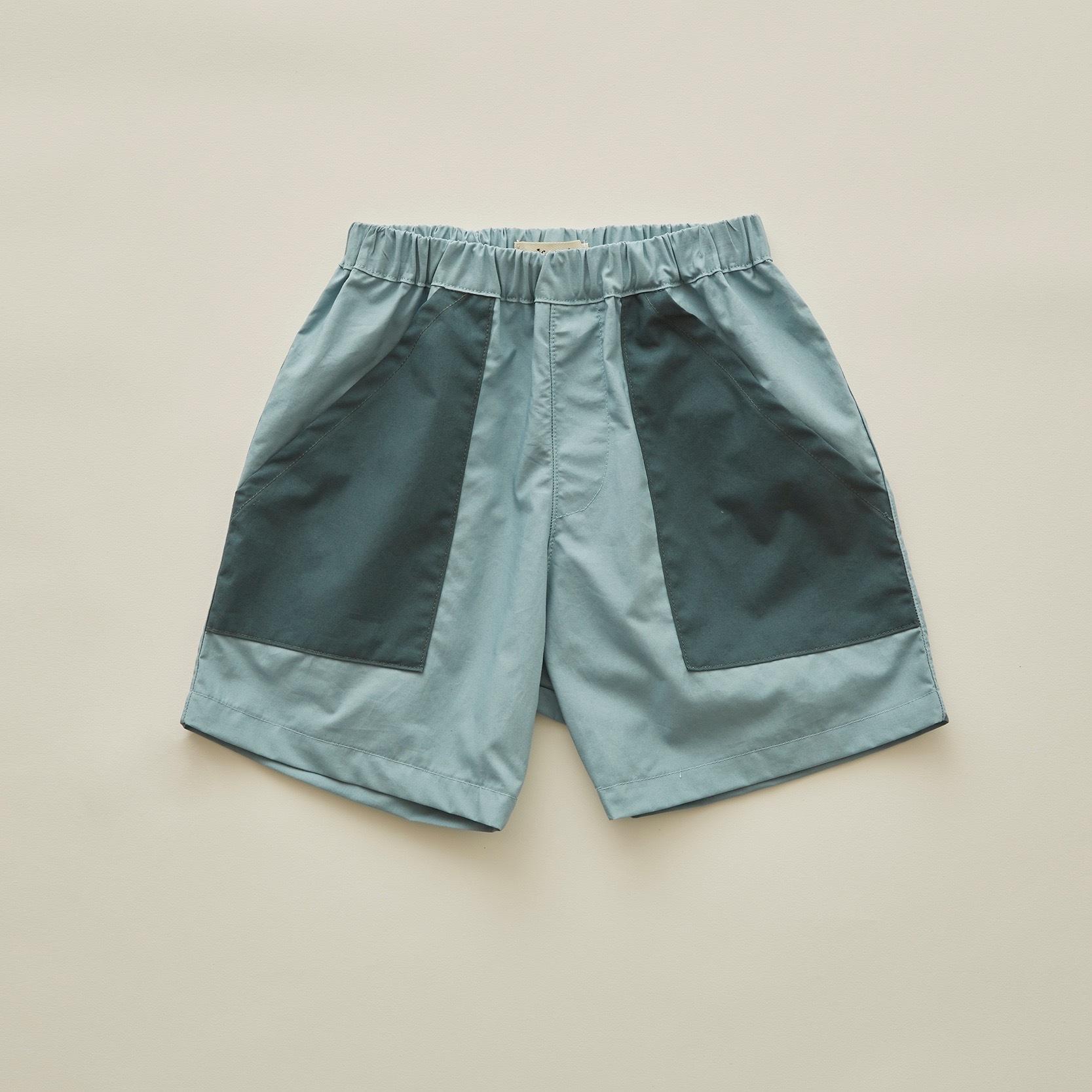 《eLfinFolk 2020SS》typwriter shorts / sky blue / 80-100cm