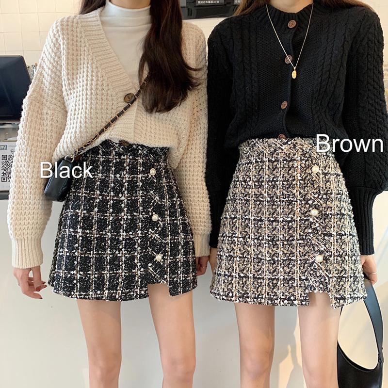 【bottoms】  チェック柄ファッション配色スカート24287099