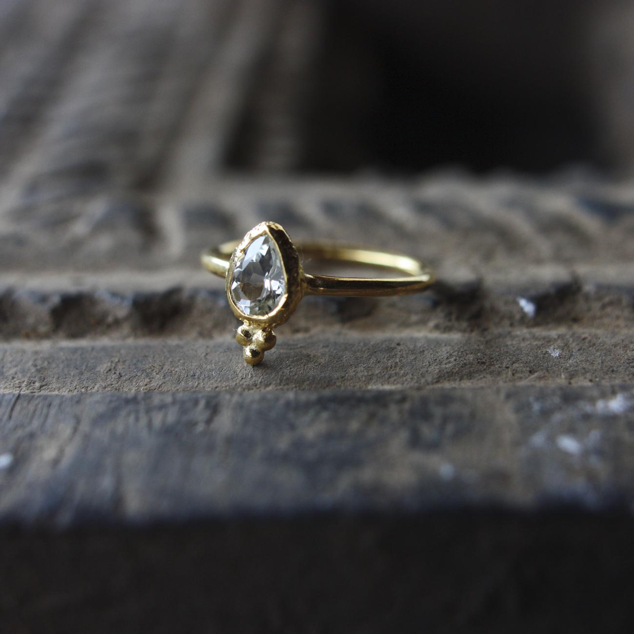 Jaipur gem リング -crystal- #7